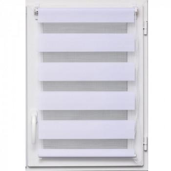 Store enrouleur jour/nuit blanc 45 x 250 cm