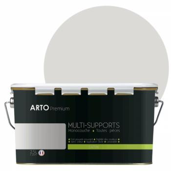 Peinture arto premium multi - supports murs, plafonds, boiseries, plinthes et radiateurs argile satin 2,5 L
