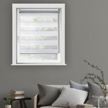 Store enrouleur jour/nuit blanc 90 x 250 cm