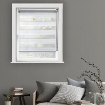 Store enrouleur jour/nuit blanc 100 x 250 cm