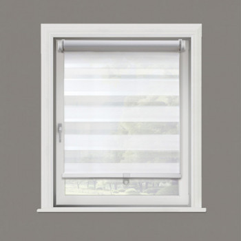 Store enrouleur jour/nuit blanc 42 x160 cm