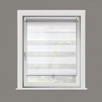 Store enrouleur jour/nuit blanc 52 x 160 cm