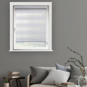 Store enrouleur jour/nuit blanc 60 x 250 cm