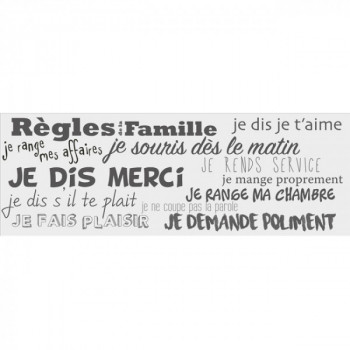 Sticker règles de la famille