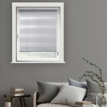 Store enrouleur jour/nuit gris clair 75 x 250 cm
