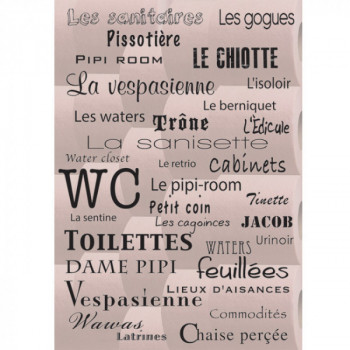 Sticker toilettes nuages de synonymes