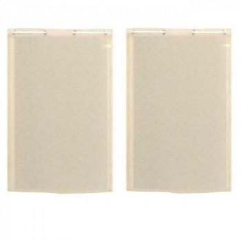 Paire de vitrage droit étamine aspect lin beige 60 x 120 cm