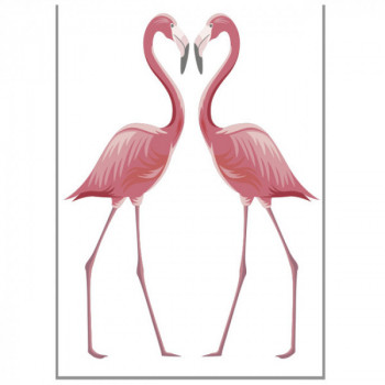 Sticker flamants roses