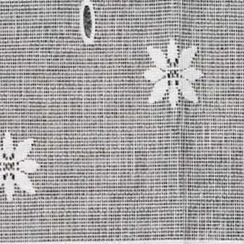 Vitrage maille motif floral blanc 45 cm
