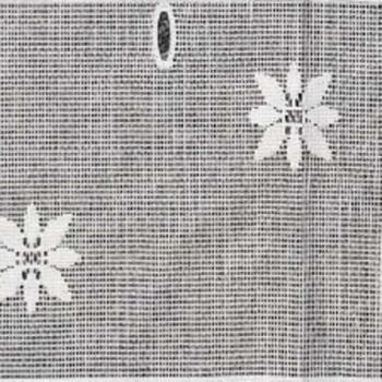 Vitrage maille motif floral blanc 60 cm