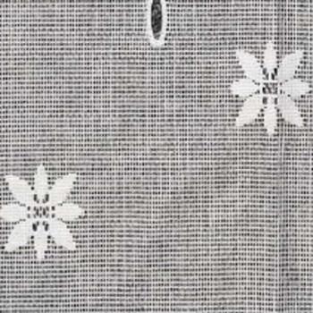 Vitrage maille motif floral blanc 90 cm