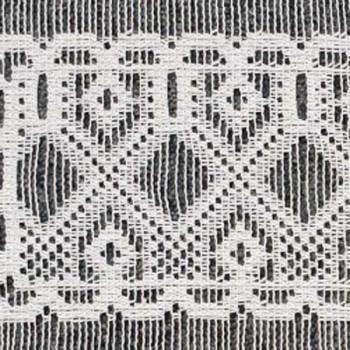 Vitrage maille motif géométrique blanc 60 cm