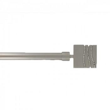 Kit tringle gris argent extensible 210-380 cm