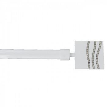 Kit tringle blanc laqué extensible 210-380 cm