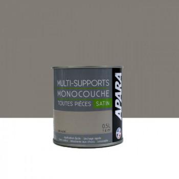 Peinture Apara multi-supports  Murs, plafonds, boiseries, plinthes...  gris altaï satin 0,5L
