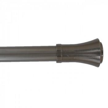 Kit tringle richelieu gris graphite extensible 120-210 cm