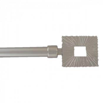 Kit tringle argent mat extensible 120-210 cm