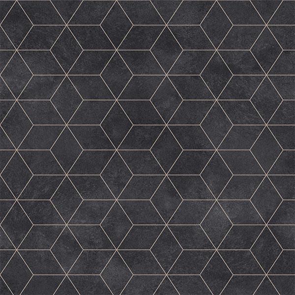 Sol PVC en rouleau feutré géométrique...