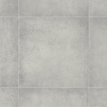 Sol PVC en rouleau feutré immitation carrelage gris béton 2.80 mm
