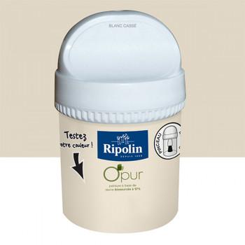 Peinture testeur Ripolin Esprit Déco Murs, plafonds, boiseries et radiateurs blanc cassé satin 750ML