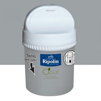 Peinture testeur Ripolin Esprit Déco Murs, plafonds, boiseries et radiateurs gris galet satin 750ML