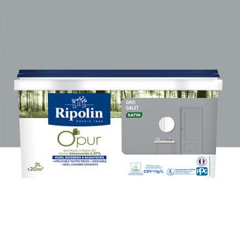 Peinture ripolin opur multi-supports gris galet satin 2L