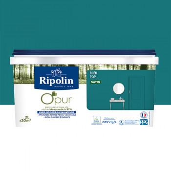 Peinture ripolin opur multi-supports bleu pop satin 2L