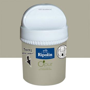Peinture Ripolin Opur multi-supports vert bourrache satin 75ML