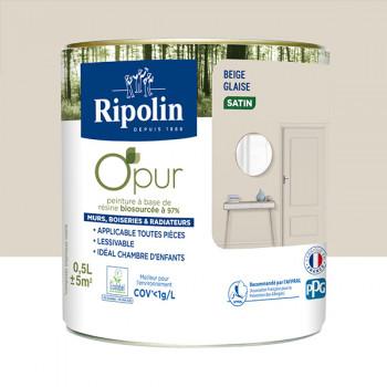 Peinture ripolin opur multi-supports beige glaise satin 0,5L