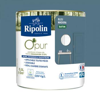 Peinture ripolin opur multi-supports bleu madura satin 0,5L