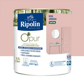 Peinture ripolin opur multi-supports rose jabadao satin 0,5L