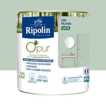 Peinture ripolin opur multi-supports vert palatino satin 0,5L