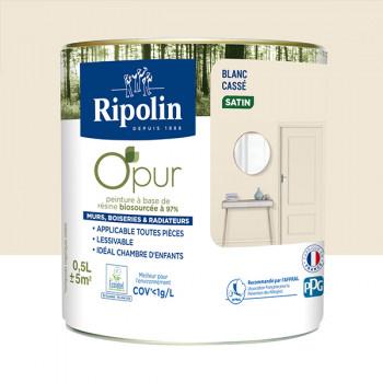Peinture ripolin opur multi-supports blanc cassé satin 0,5L