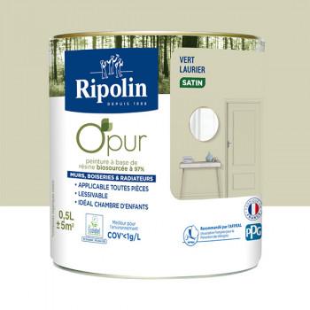 Peinture ripolin opur multi-supports vert laurier satin 0,5L