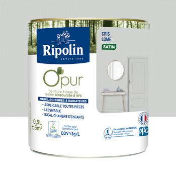 Peinture ripolin opur multi-supports gris lome satin 0,5L