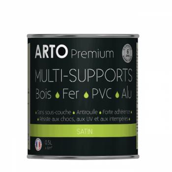 Peinture Arto Premium multi-supports blanc satin 0,5L