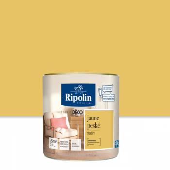 Peinture Ripolin Esprit Déco Murs, plafonds, boiseries et radiateurs jaune peské satin 0,5L