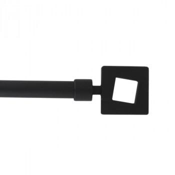 Kit tringle noir mat extensible embout carré 120 à 210 cm