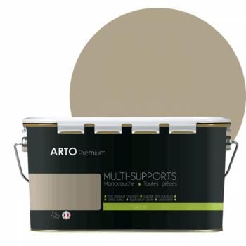 Peinture arto premium multi - supports murs, plafonds, boiseries, plinthes et radiateurs marbre satin  2,5 L