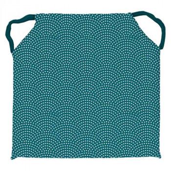Galette de chaise carré PAON bleu 40x40cm