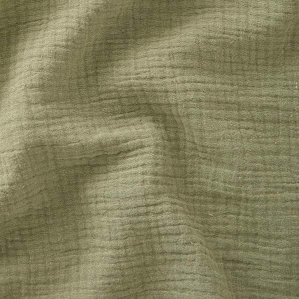 Tissu double gaze gaufrée de coton...