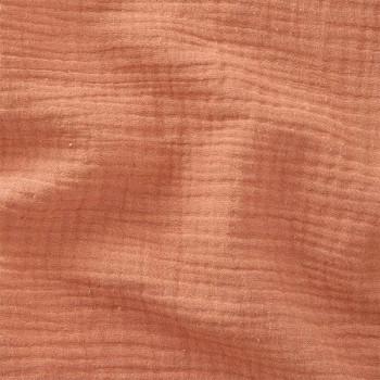Tissu double gaze gaufrée de coton uni marsala 130 cm