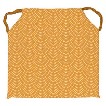 Galette de chaise carré PAON moutarde 40x40cm