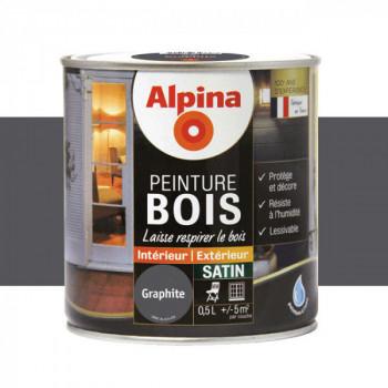 Peinture Alpina spéciale bois satin graphite