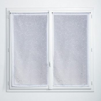Grand vitrage blanc 85 x 210 cm