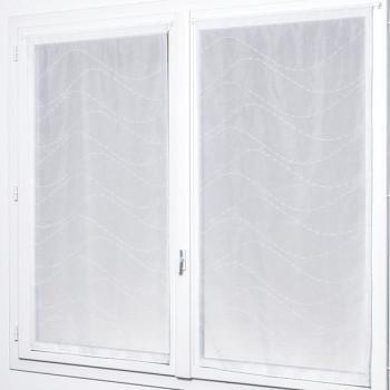 Grand vitrage blanc 80 x 210 cm.