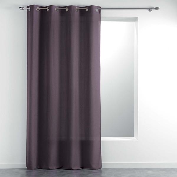 Rideau tissu violet