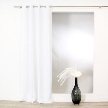 Rideau tissu blanc
