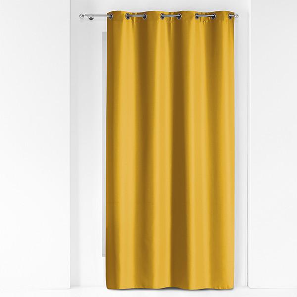 Rideau tissu jaune métallique