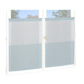 Vitrage etam top rayures bleu 60 x 90 cm